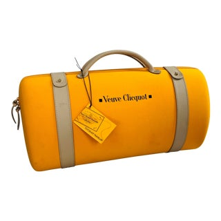 Veuve Clicquot Ponsardin Traveller Case & Pair of Champagne Flutes For Sale