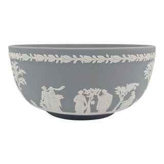 20th Century Wedgwood Jasperware Gray and White Bowl For Sale