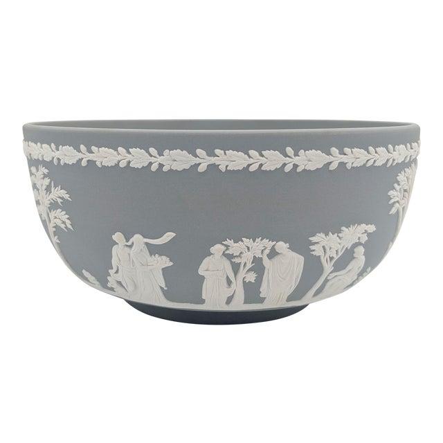 20th Century Wedgwood Jasperware Gray and White Bowl For Sale