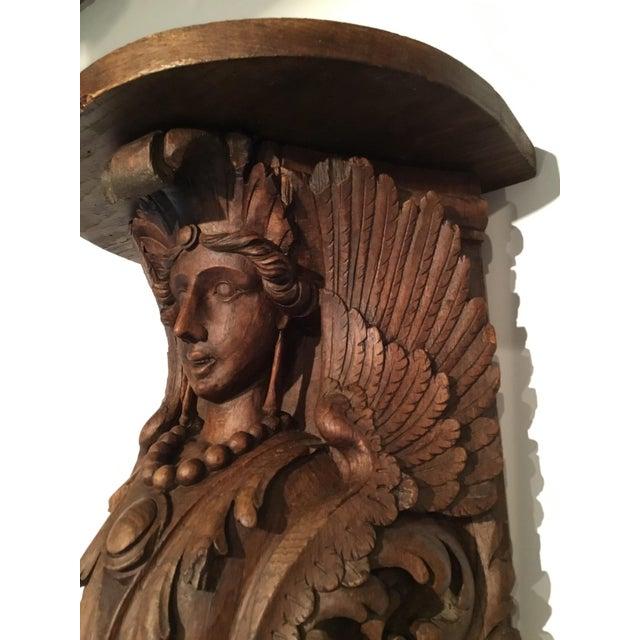 Antique Carved Wood Bracket - Image 8 of 11