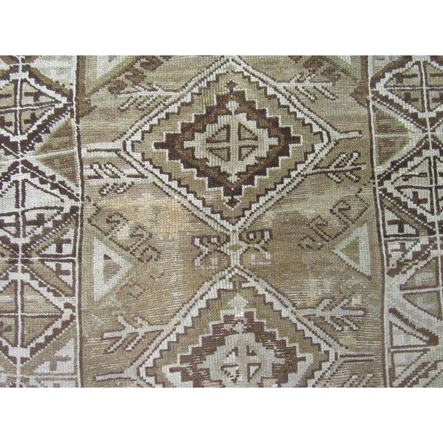 "1960's Vintage Handmade Wool Turkish Anatolian Area Rug-4'10'x10'3"" For Sale - Image 4 of 10"