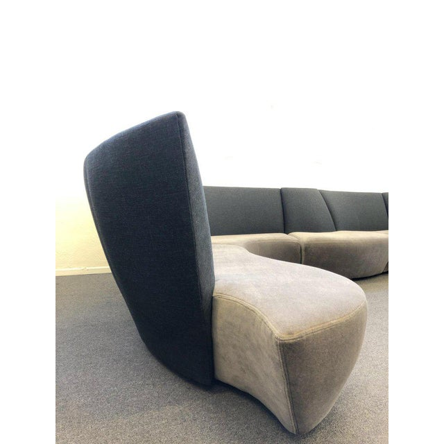 Fabric Five Piece Sectional Sofa by Vladimir Kagan for Preview For Sale - Image 7 of 13