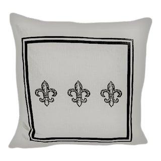 Three Fleur De Lis Pillow For Sale