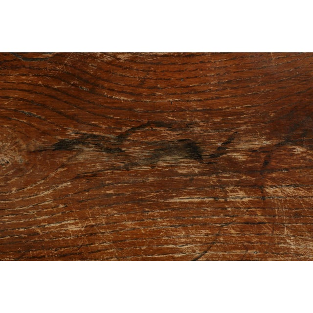 Arts & Crafts Solid Oak Trestle Writing Table - Image 8 of 10