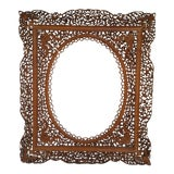 Image of Antique Anglo Indian Carved Wood Frame For Sale