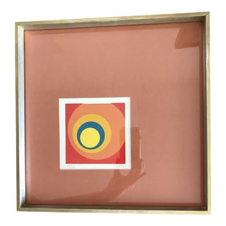 1960s Mid-Century Modern Geometric Framed and Numbered Collage For Sale