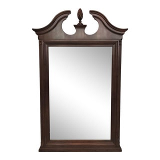 1991 Henredon Large Chippendale Neoclassical Mahogany Mirror For Sale