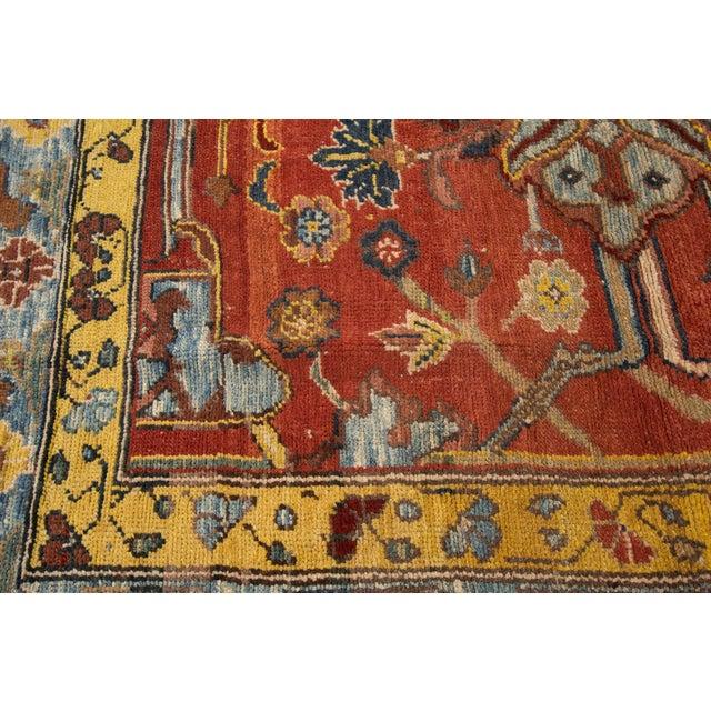 "Textile Vintage Persian Tribal Bakshaish Rug, 7'4"" X 9'4"" For Sale - Image 7 of 11"