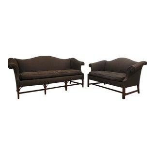 1960s Vintage Chippendale Sofa Set- 2 Pieces For Sale