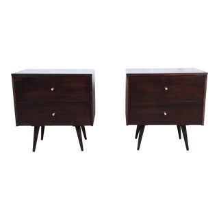 Paul McCobb Planner Group Mid-Century Modern Nightstands, Newly Refinished For Sale