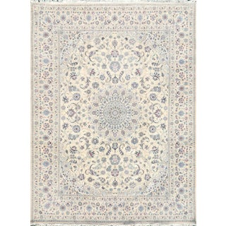 "Tan & Blue Nain Area Rug - 10' X 13'1"" For Sale"