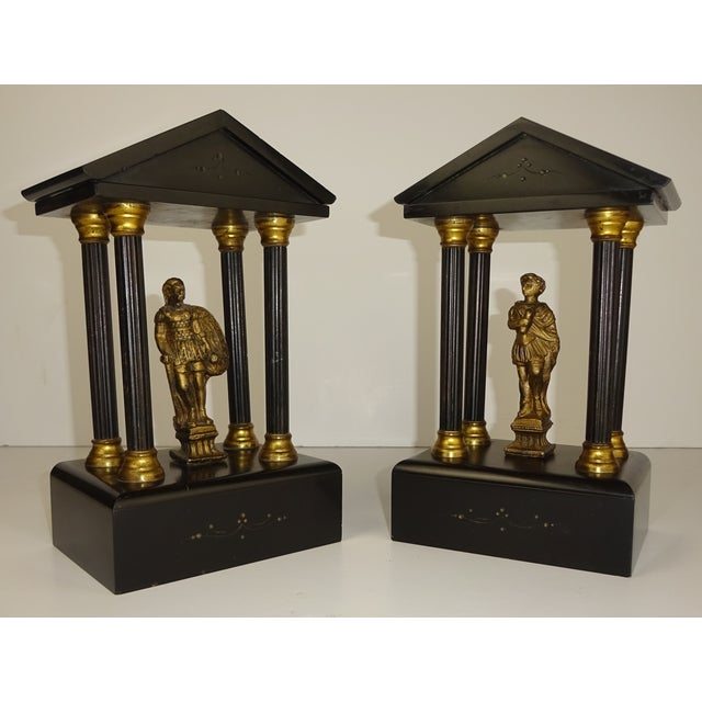 Belgian Miniature Marble & Bronze Temples - A Pair - Image 2 of 11