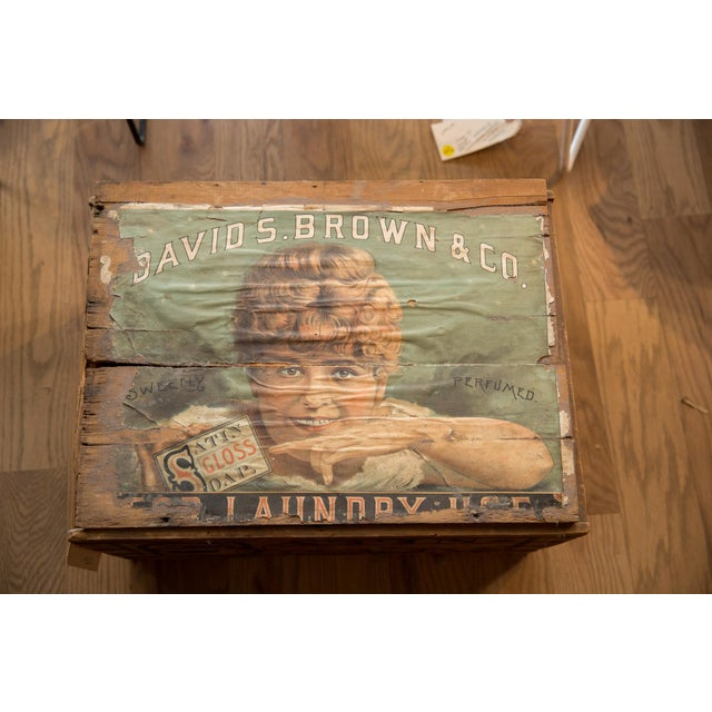 Antique Soap Box Crate With Label For Sale - Image 10 of 11