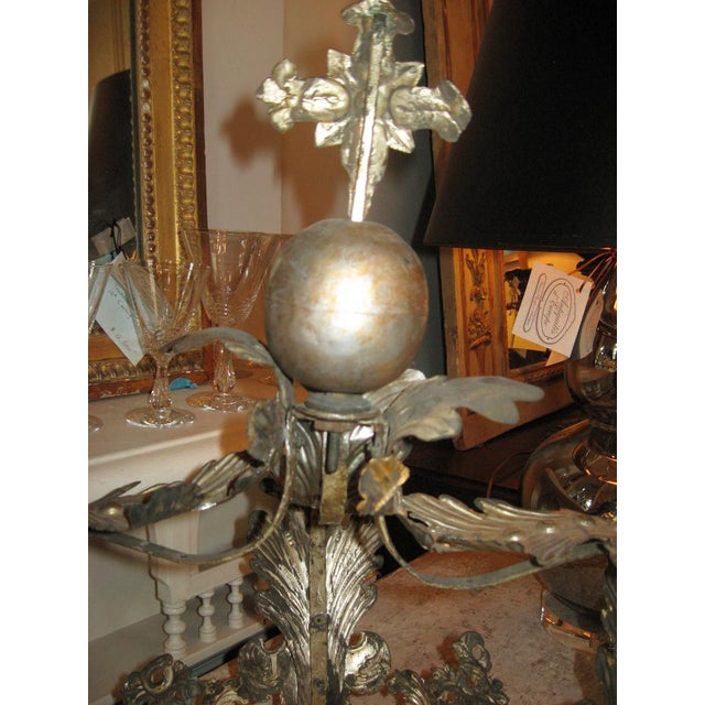 Silver 19th Century French Bed Corona For Sale - Image 8 of 10