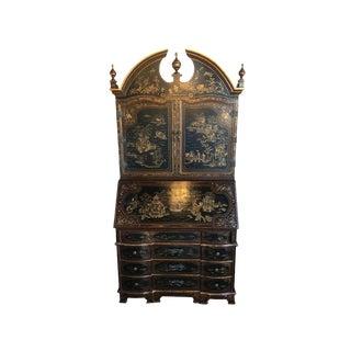 Vintage Chinoiserie Secretary Desk For Sale
