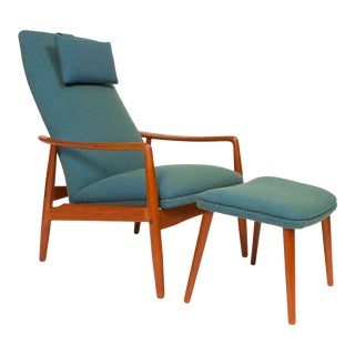 Danish Mid-Century Svend Langkilde High Back Lounge Chair - a Pair For Sale