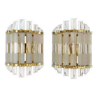 Vintage Murano Sconces - a Pair For Sale