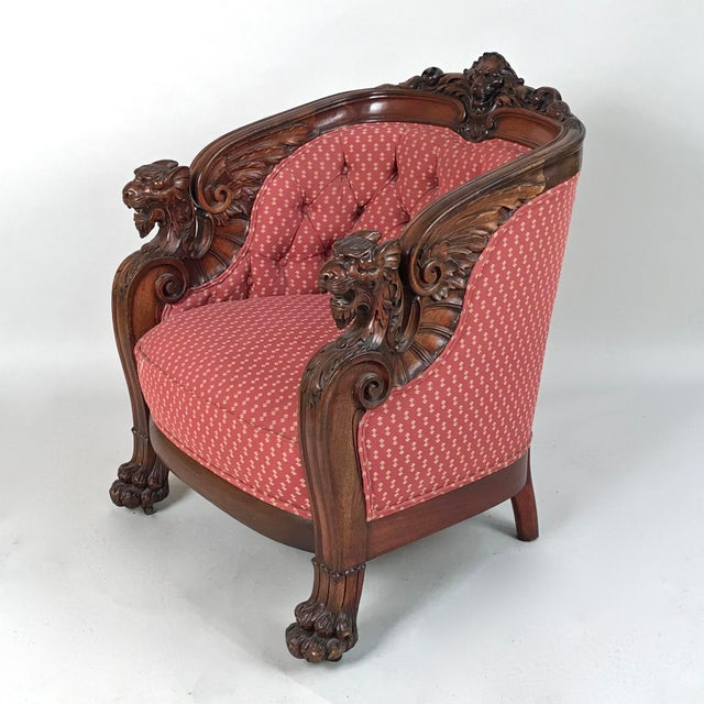 Traditional Early 19th Century English Regency Mahogany Armchair For Sale - Image 3 of 12