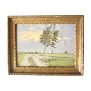 Framed Sunset Oil on Canvas by Dennis Broadbent