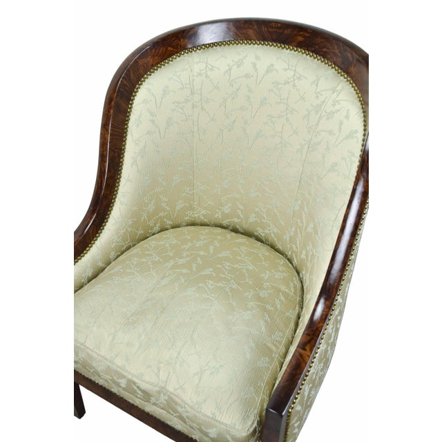 2000s Biedermeier William Switzer Classic Occasional Chair For Sale - Image 5 of 8