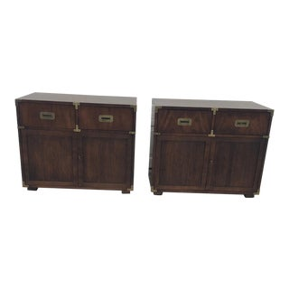 Henredon Campaign Chests - a Pair For Sale