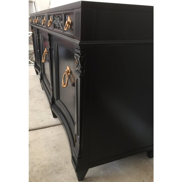 Vintage Weiman Painted Credenza For Sale - Image 9 of 10