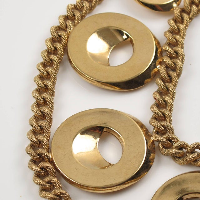 Early 21st Century Julie Borgeaud for Imai Large Gilt Metal Geometric Choker Necklace For Sale - Image 5 of 10