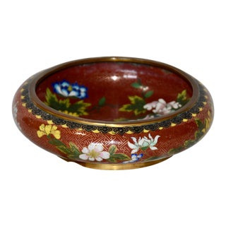 Chinese Cloisonne Round Squat Form Bowl Xuande Mark For Sale