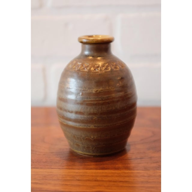 Hand Stamped Studio Pottery Vessel - Image 3 of 3