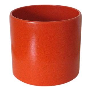 Gainey Ceramics AC-12 Planter in Bright Chrome Orange For Sale