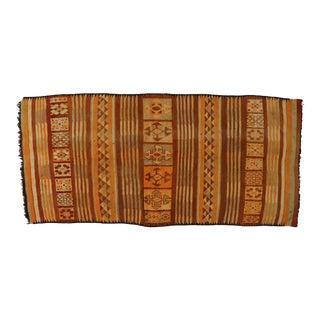 Vintage Berber Moroccan Kilim Rug - 06'02 X 13'01 For Sale