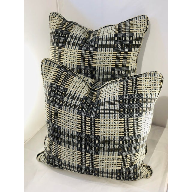 "Contemporary 16"" Square Highland Court Fabric Pillows - a Pair For Sale - Image 3 of 8"