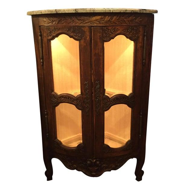 Antique 1750s Corner Cabinet with Original Marble - Image 1 of 8