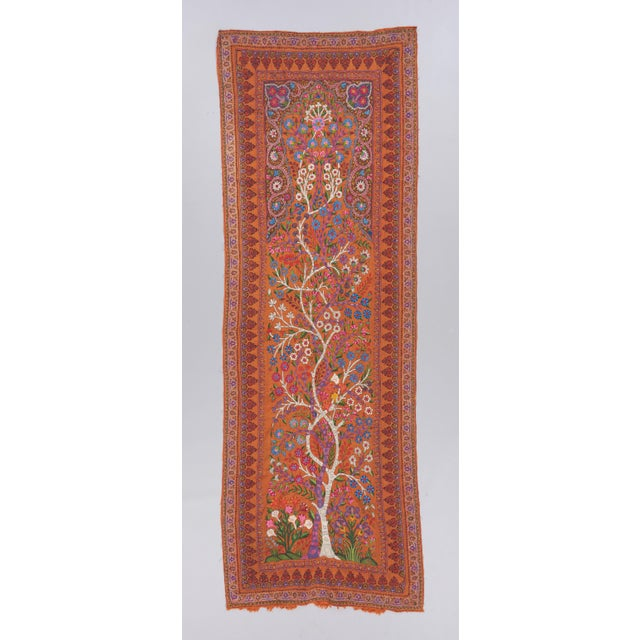 """19th Century Kerman """"Termeh"""" Embroidery Textile Art For Sale - Image 4 of 4"""