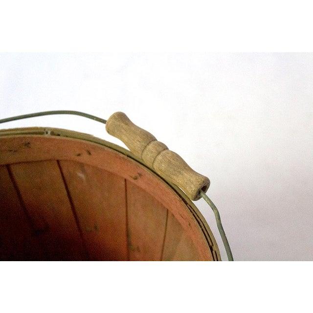 Vintage Wood Slat Apple Basket For Sale In Dallas - Image 6 of 7