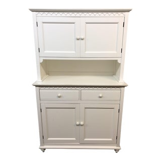 Cottage Style White Buffet & Hutch