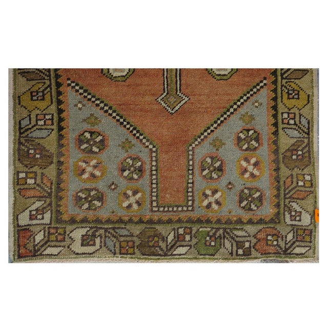 Vintage Turkish Oushak Rug - 3′ × 5′8″ - Image 2 of 3