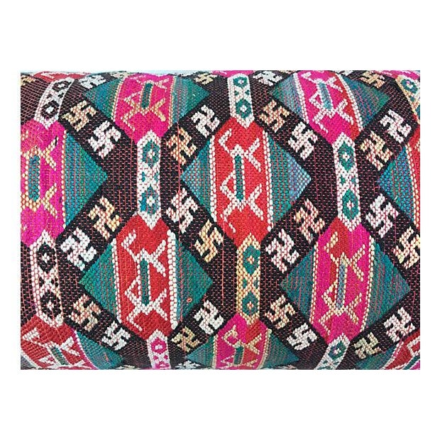Antique Handwoven Tribal Pillow - Image 3 of 7