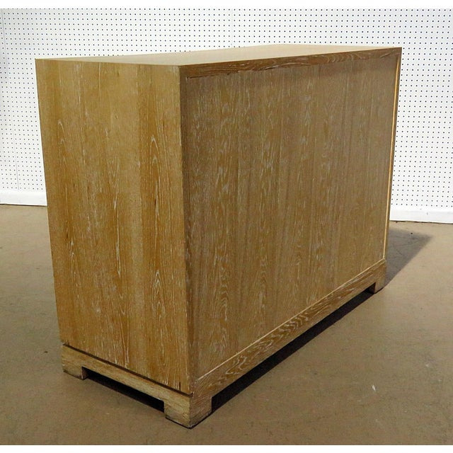 Brown Mid-Century Modern Tommi Parzinger Style Chest For Sale - Image 8 of 13