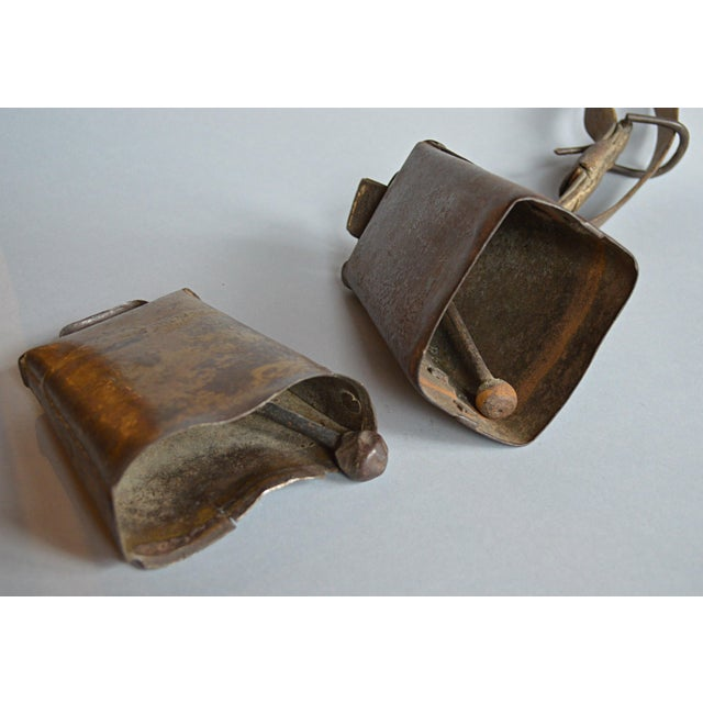 Antique Primitive Cow Bells - A Pair - Image 4 of 4