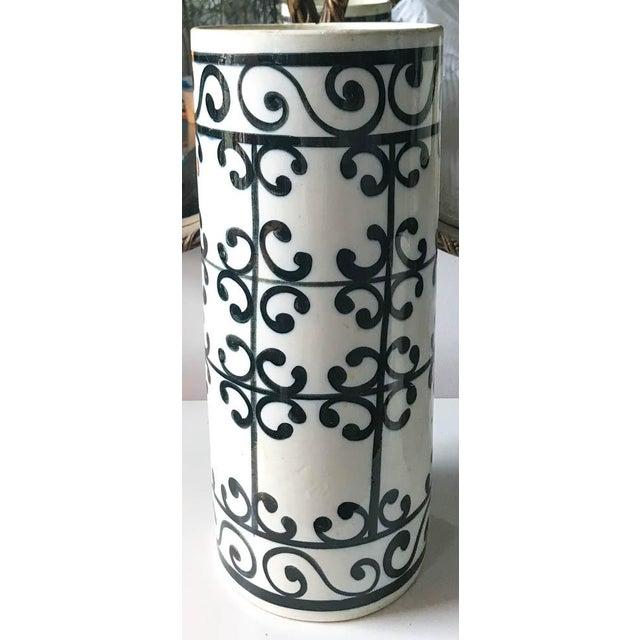 Mid Century Spanish Ceramic Umbrella Stand, Vase For Sale In New York - Image 6 of 6