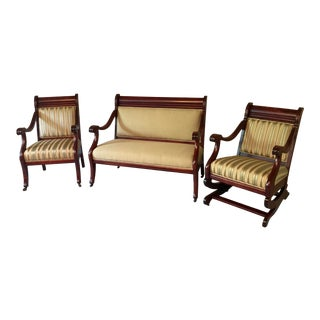Antique Parlor Seating - Set of 3 For Sale