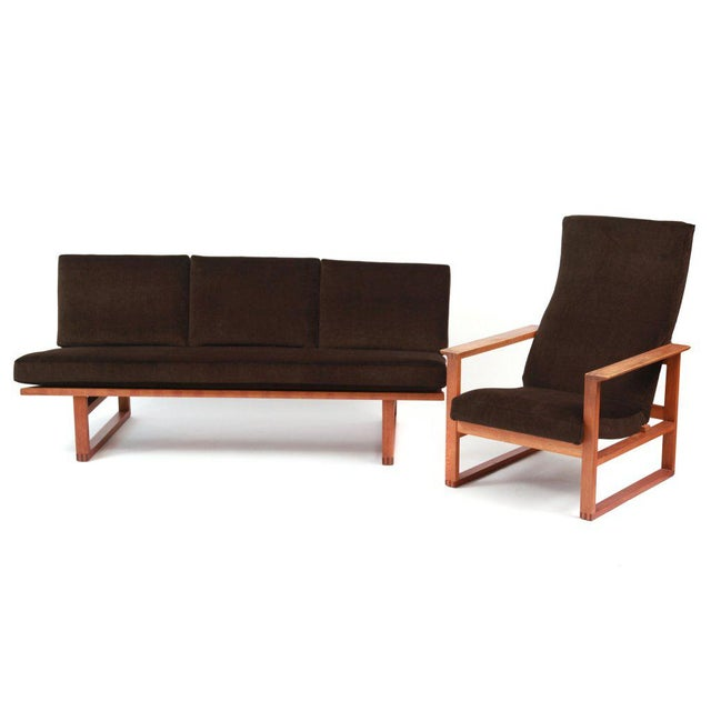 Børge Mogensen Adjustable Oak and Mohair Lounge Chair For Sale In Phoenix - Image 6 of 7