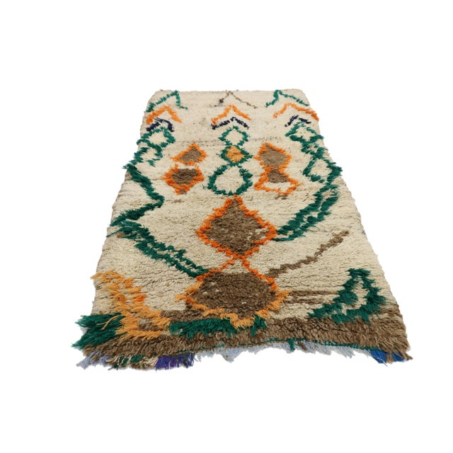 Islamic 1970s Vintage Berber Moroccan Azilal Rug - 2′5″ × 4′10″ For Sale - Image 3 of 10