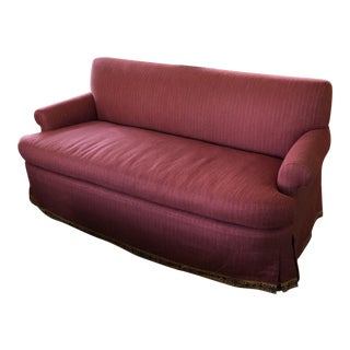 Custom Red Loveseat & Pillows