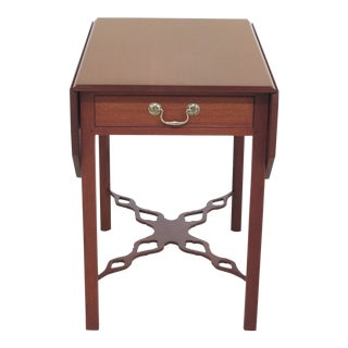 1950s Chippendale Kittinger Cw-160 Colonial Williamsburg Mahogany Pembroke Table For Sale