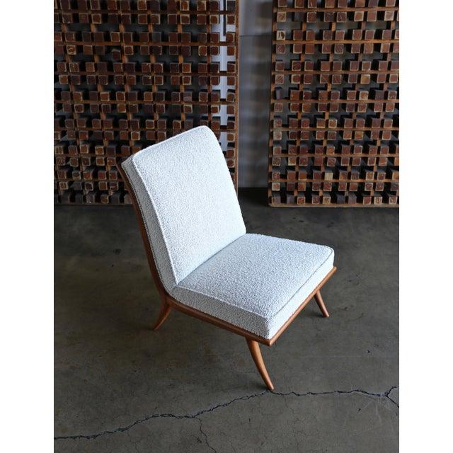 Antique White t.h. Robsjohn-Gibbings Slipper Chairs for Widdicomb Circa 1955 For Sale - Image 8 of 12