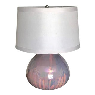 Large Studio Mid Century Modern Fluorescent Pink and Blue Drip Lamp For Sale
