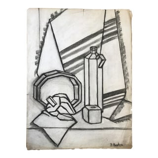Still Life Study Betsy Andker Charcoal Drawing, 1930s