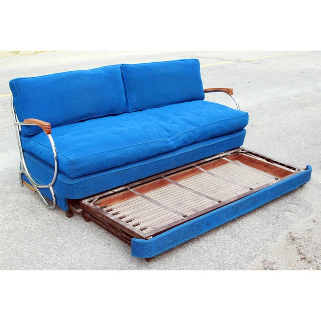 Art Deco Chrome Sofa Daybed - Image 8 of 10